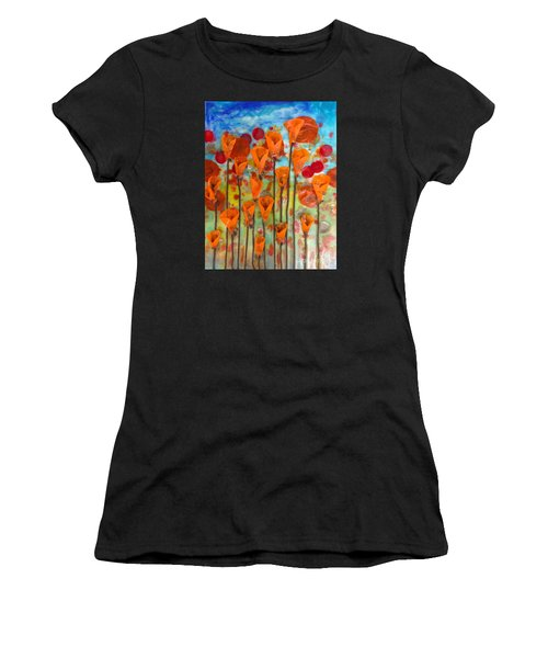 Poppies Make Me Happy Women's T-Shirt