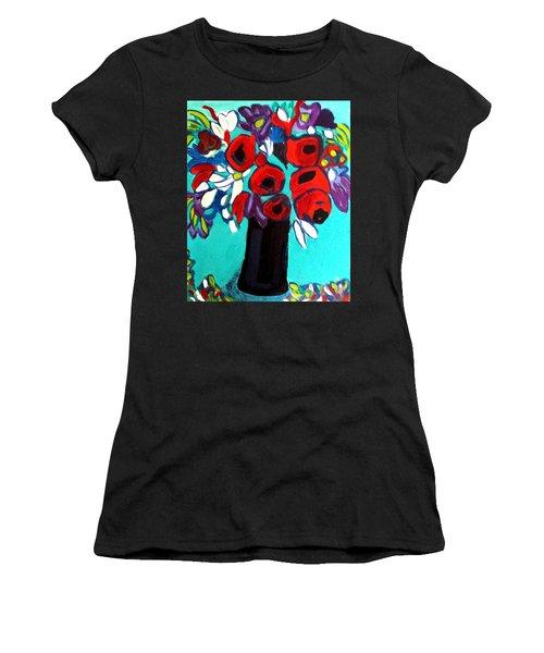 Poppies Red Women's T-Shirt