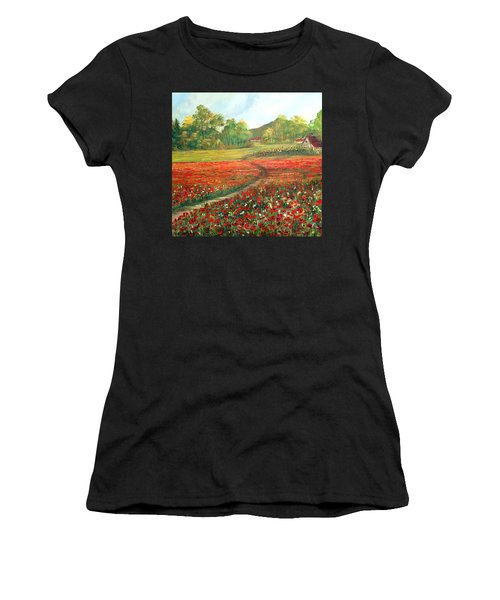 Poppies Time Women's T-Shirt (Athletic Fit)