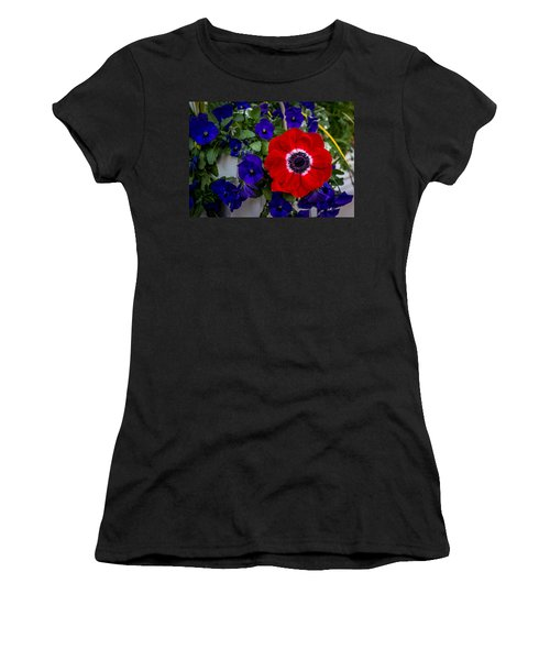 Poppy And Pansies Women's T-Shirt (Athletic Fit)