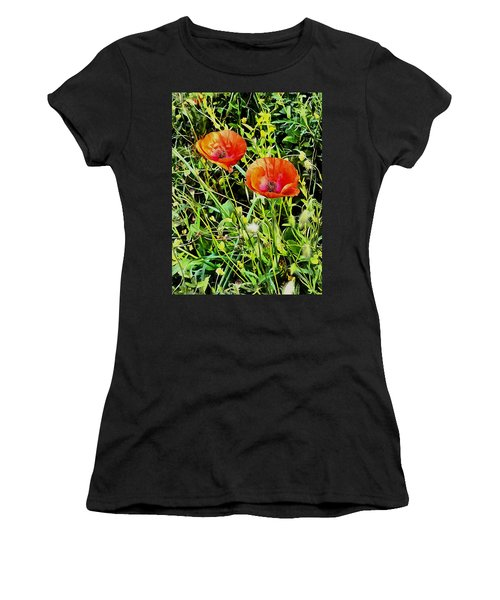 Poppy Beauties Women's T-Shirt (Athletic Fit)