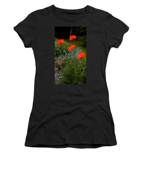 Poppy Foursome Women's T-Shirt (Athletic Fit)