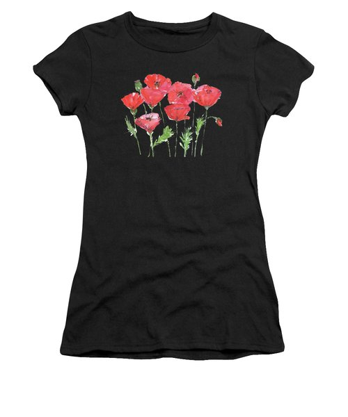 Poppy Garden Women's T-Shirt (Athletic Fit)