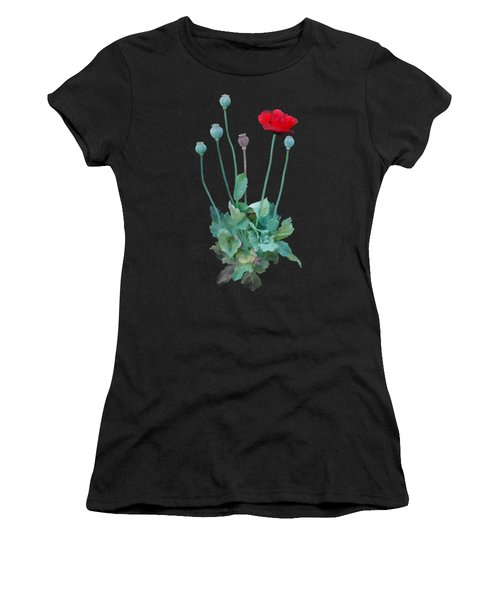 Women's T-Shirt featuring the painting Poppy by Ivana Westin