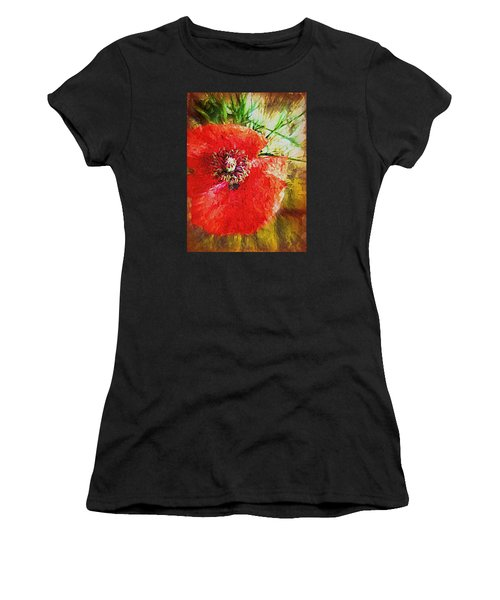 Poppy Variation Too Women's T-Shirt (Athletic Fit)
