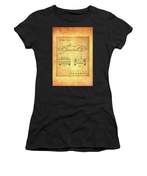 Porsche Blueprint Women's T-Shirt (Athletic Fit)