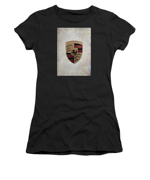 Porsche Shield Women's T-Shirt (Athletic Fit)