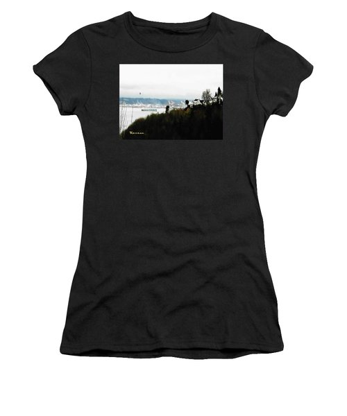 Port Of Tacoma At Ruston Wa Women's T-Shirt (Junior Cut) by Sadie Reneau
