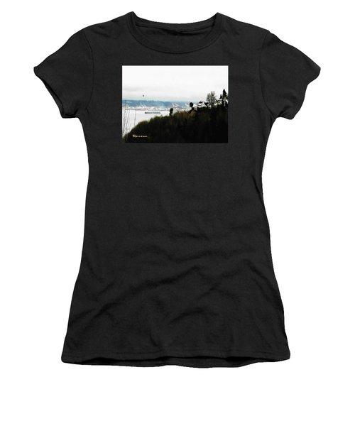 Port Of Tacoma At Ruston Wa Women's T-Shirt (Junior Cut) by Sadie Reneau