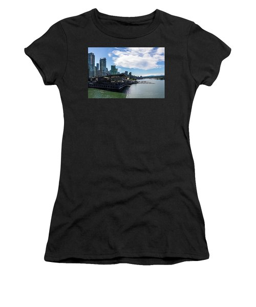Women's T-Shirt (Athletic Fit) featuring the photograph Port Of Vancouver by Ed Clark