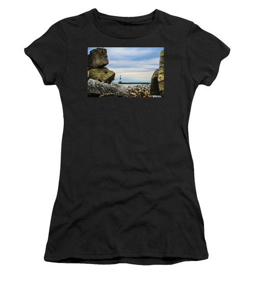 Port Washington Light 4 Women's T-Shirt (Junior Cut) by Deborah Smolinske