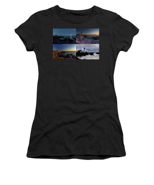 Portland Head Light Day Or Night Women's T-Shirt