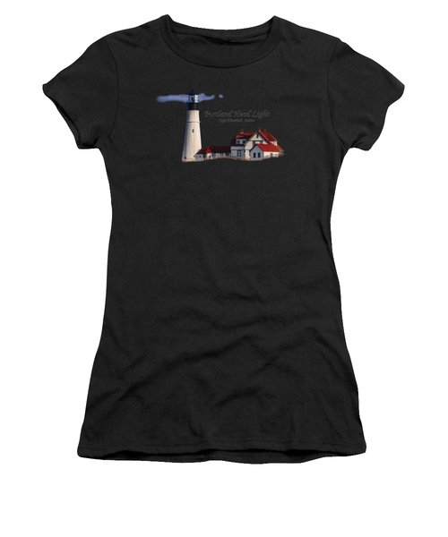 Portland Head Light No. 43 Women's T-Shirt (Athletic Fit)