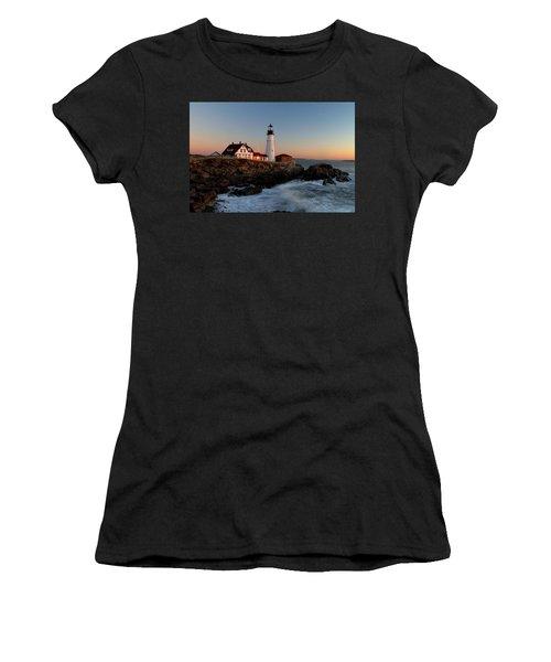 Portland Head Lighthouse Sunrise Women's T-Shirt
