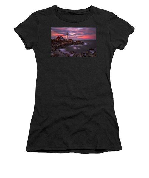 Portland Head Sunset Women's T-Shirt