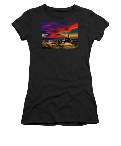 Portland Headlight Lighthouse At Sunset, Maine Women's T-Shirt