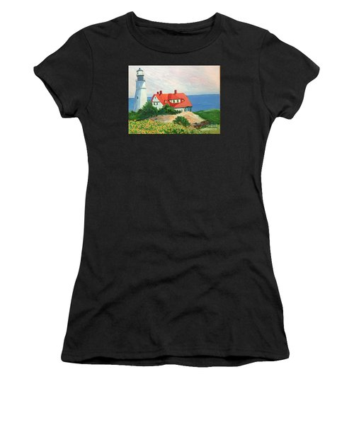 Portland Headlight With Brown Eyed Susans Women's T-Shirt