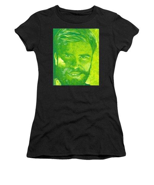Portrait In Green Women's T-Shirt