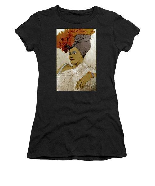 Portrait Of A Caribbean Beauty Women's T-Shirt (Athletic Fit)