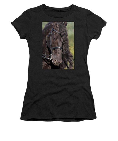 Portrait Of A Friesian Women's T-Shirt