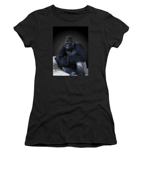Portrait Of A Male Gorilla Women's T-Shirt