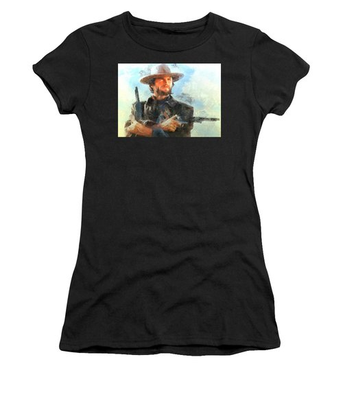 Portrait Of Clint Eastwood Women's T-Shirt