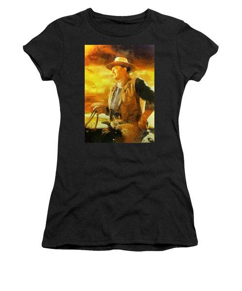 Portrait Of John Wayne Women's T-Shirt