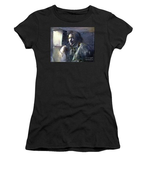 Portrait Of Kip Hanrahan - At The 11th Street Studio, Nyc - Women's T-Shirt