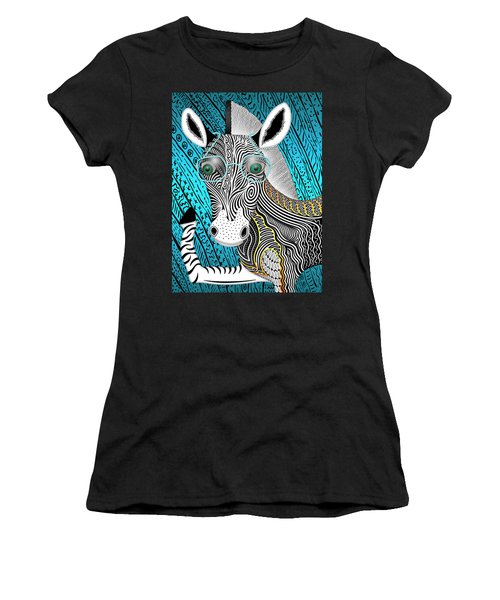 Portrait Of The Artist As A Young Zebra Women's T-Shirt (Athletic Fit)