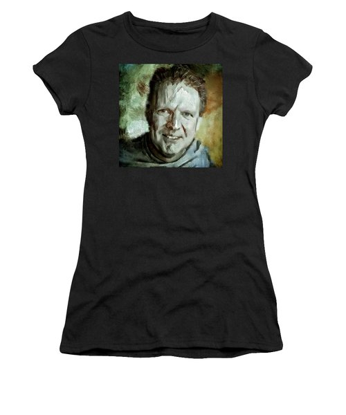 Portrait Painting Cinematographer Camera Operator Behind The Scenes Movie Tv Show Film Chicago Med Women's T-Shirt (Athletic Fit)