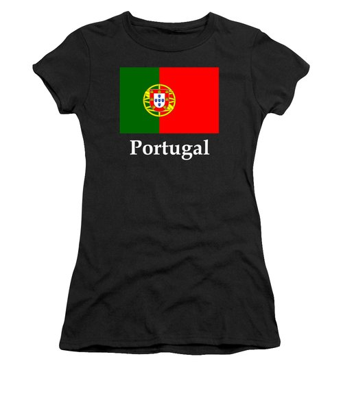 Portugal Flag And Name Women's T-Shirt