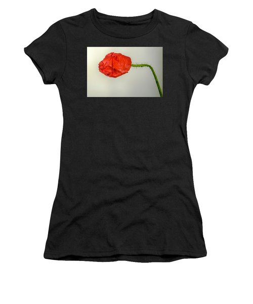 Posing Fire Red Poppy Women's T-Shirt