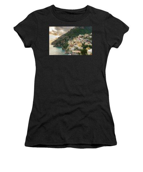 Positano Sunset Women's T-Shirt (Athletic Fit)