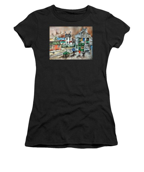 Post Office Mural In Ennistymon Clare Women's T-Shirt (Athletic Fit)