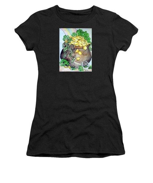 Pot-of-gold Women's T-Shirt (Athletic Fit)