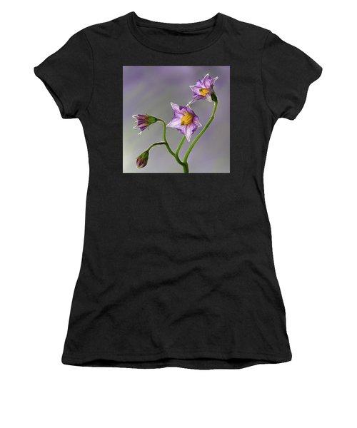 Potato Flowers Women's T-Shirt (Athletic Fit)