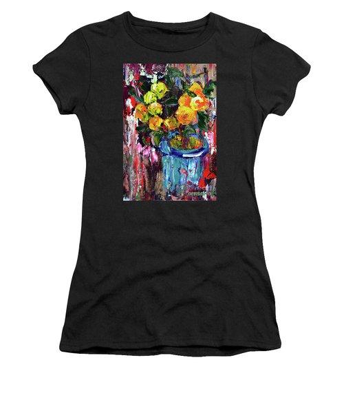 Potted Mini Oranges Women's T-Shirt (Athletic Fit)