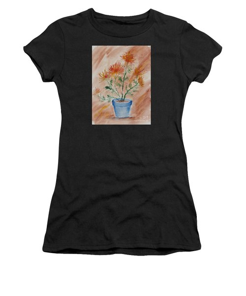 Potted Plant - A Watercolor Women's T-Shirt
