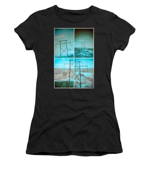 Power Line Patriots Women's T-Shirt (Athletic Fit)