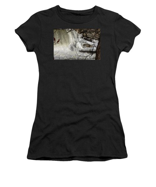 Power Station Falls On Black River  Women's T-Shirt