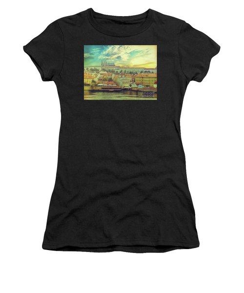 Prague Riverview Women's T-Shirt (Athletic Fit)