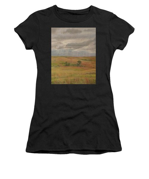 Women's T-Shirt featuring the drawing Prairie Light by Cris Fulton