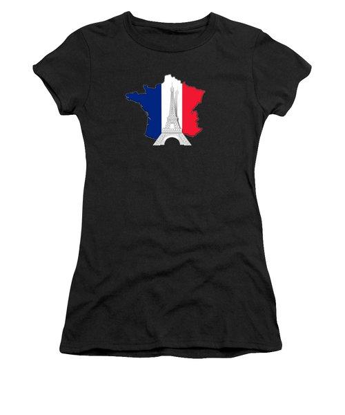 Pray For Paris Women's T-Shirt (Athletic Fit)