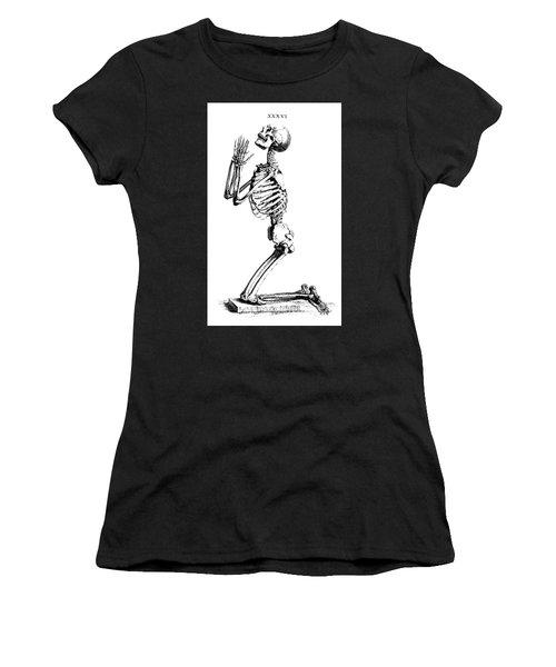 Praying Skeleton Women's T-Shirt