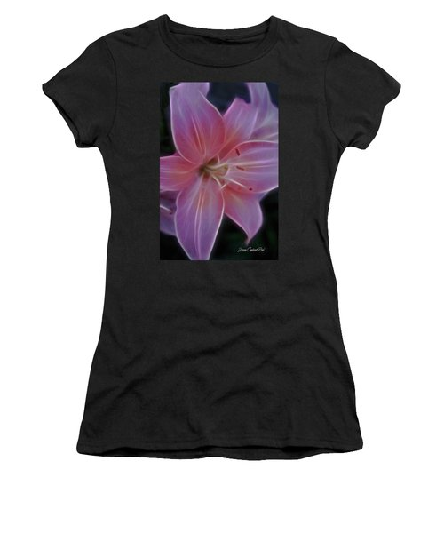 Precious Pink Lily Women's T-Shirt (Athletic Fit)