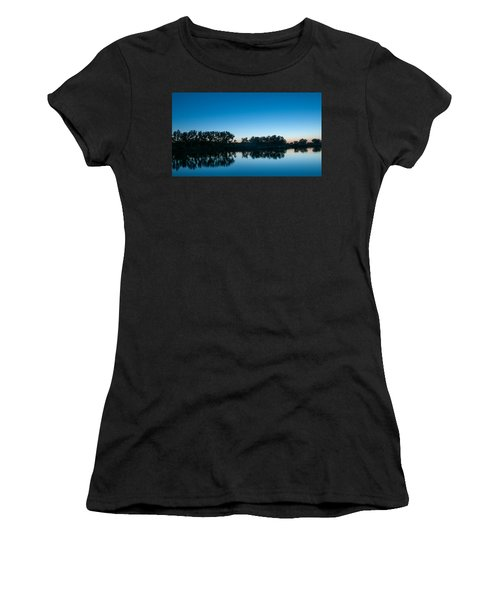 Women's T-Shirt (Athletic Fit) featuring the photograph Predawn At Arapaho Bend by Monte Stevens