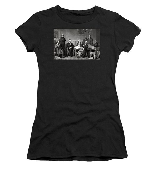 President Lincoln And His Cabinet Women's T-Shirt