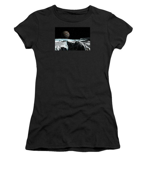 Pressure Ridge On Europa Women's T-Shirt (Athletic Fit)