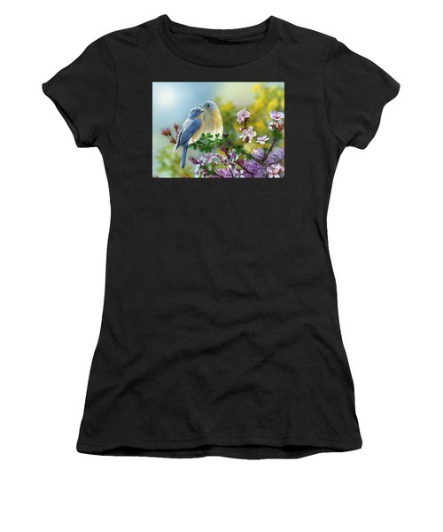Pretty Blue Birds Women's T-Shirt