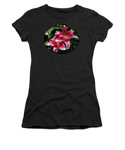 Pretty Lilies Women's T-Shirt (Junior Cut) by Nick Kloepping